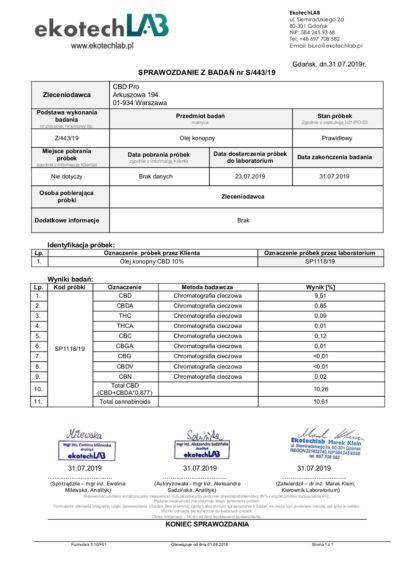 olejek konopny sprzedaż certyfikat CBD PRO2 sklep internetowy rzeszow
